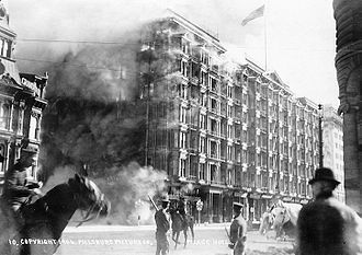 Palace Hotel, San Francisco - 1906 fire