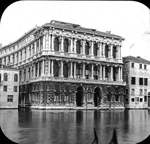 Ca' Pesaro - Pesaro Palace, Venice, Italy. Brooklyn Museum Archives, Goodyear Archival Collection