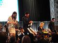 PaleyFest 2011 - The Walking Dead panel - Sarah Wayne Callies, Jon Bernthal, Laurie Holden sign for fans (5500584912).jpg