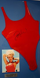 1f9cc550d41bc A signed swimsuit previously owned by Pamela Anderson herself.