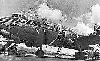 Douglas DC-4 - Pan American DC-4 at Piarco Airport, Trinidad in the 1950s