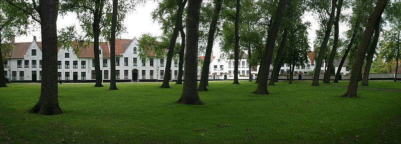 Inside of the Beguinage.