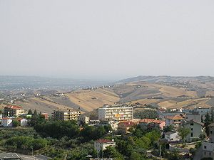 Panorama of the Val of Sango and of the surrounding hills (province of Chieti, Italy)