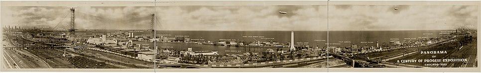 Panoramic view of the 1933 Century of Progress World's Fair