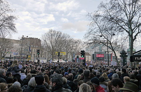 Paris Rally, 11 January 2015 - Place de la Bastille.jpg