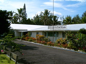 Cook Islands - The parliament building of the Cook Islands, formerly a hotel.