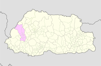 Location of Tsento Gewog