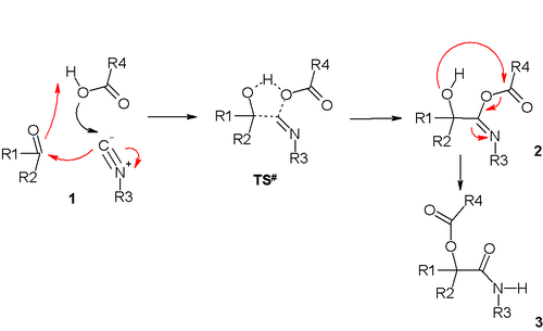Trimolecular Passerini reaction mechanism