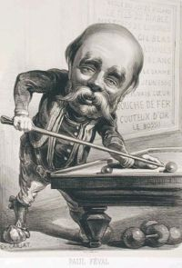 Contemporary caricature of Paul Féval, père