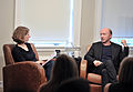 Paul Haggis with moderator at Canadian Film Centre masterclass (November 7, 2011).jpg
