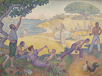 Paul Signac - In the Time of Harmony. The Golden Age is not in the Past, it is in the Future, 1893–95, oil on canvas, 310 x 410 cm (122 × 161.4 in), Mairie de Montreuil