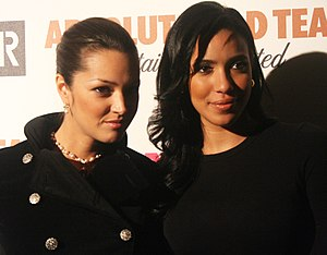 Julissa Bermudez - Bermúdez (right) with Paula Garcés in March 2011