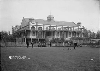 Pavilion from bowling green Llandrindod Wells