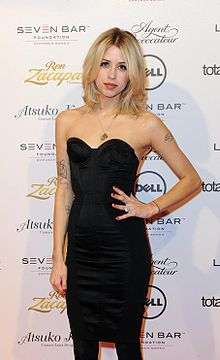 Peaches Geldof on the red carpet at Lingerie London.jpg