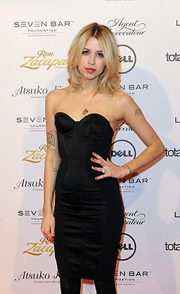 Peaches Geldof on the red carpet at Lingerie London