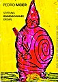 Pedro Meier Ausstellung Stiftung Franz Eggenschwiler, »Work in Progress«. »König Ubu« nach Alfred Jarry Ur-Dadaist. Mischtechnik auf Papier auf Leinwand 2016. Foto © Pedro Meier Multimedia Artist.jpg