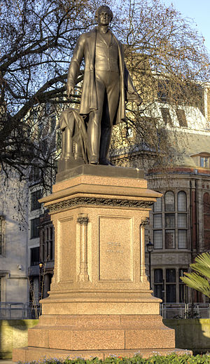 Statue of Robert Peel, Parliament Square - Statue of Sir Robert Peel, Parliament Square, London