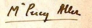 Percy Allen (writer) - Image: Percy sig