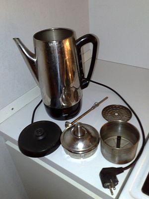 Coffee percolator - A disassembled coffee percolator