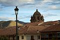 Peru - Cusco 077 - La Merced rising over Plaza de Armas (7143120489).jpg