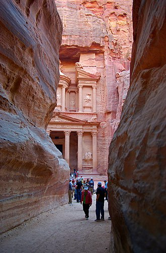 Arabia Petraea - Petra, now designated as a World Heritage Site by UNESCO.