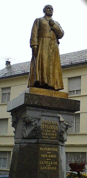 Dominique Peyramale - Statue of Dominique Peyramale outside the Parish Church in Lourdes