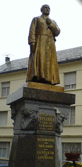 Dominique Peyramale - Statue of Dominique Peyramale outside the Parish Church in Lourdes
