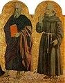 Piero, Pala della misericordia, santi giovanni evangelista e bernardino.jpg