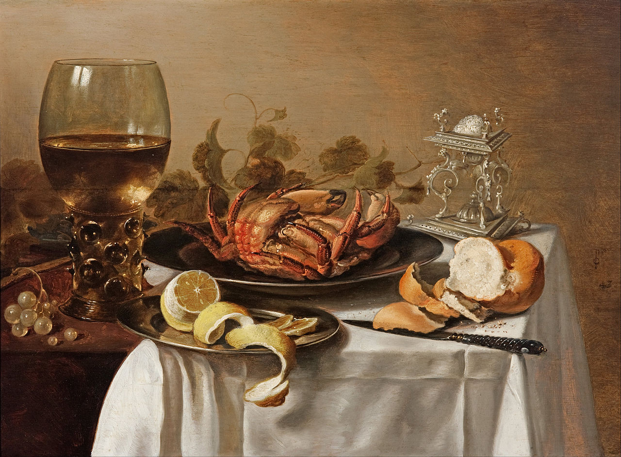 https://upload.wikimedia.org/wikipedia/commons/thumb/f/f8/Pieter_CLAESZ._-_A_still_life_with_a_roemer%2C_a_crab_and_a_peeled_lemon_-_Google_Art_Project.jpg/1280px-Pieter_CLAESZ._-_A_still_life_with_a_roemer%2C_a_crab_and_a_peeled_lemon_-_Google_Art_Project.jpg