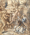 Pietro da Cortona (Pietro Berrettini) - Madonna and Child, Saint John the Baptist and Pope Stephen - Google Art Project.jpg
