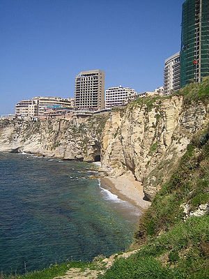 Raouché - Beirut as seen from the pigeon rock