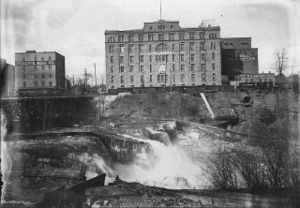 "Pillsbury Company - The Pillsbury ""A"" Mill and neighboring Phoenix Mill in the early 1900s"