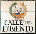 Placa artística de la calle de Fomento (17 de diciembre de 2016, Madrid).jpg