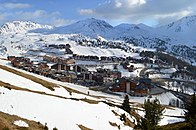 Plagne Soleil and Plagne Villages, April 2017.jpg