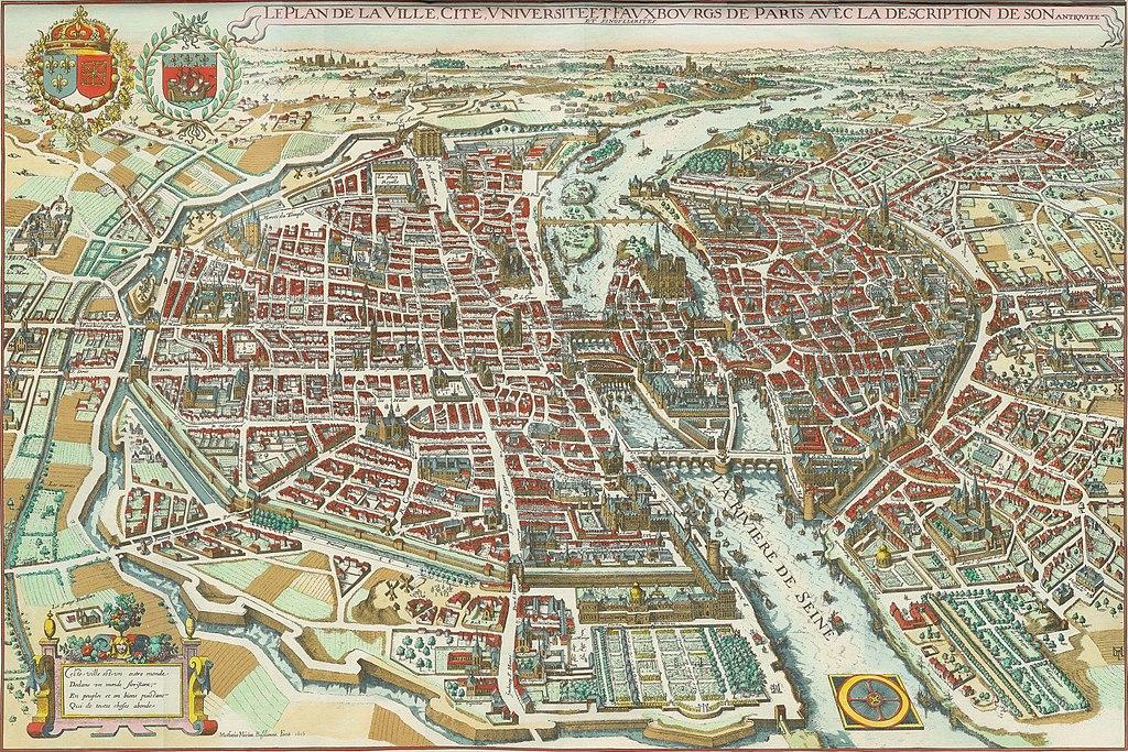 File Plan De Paris De M 233 Rian Jpg Wikimedia Commons