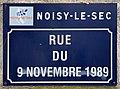 Plaque Rue 9 Novembre 1989 - Noisy-le-Sec (FR93) - 2021-04-16 - 1.jpg
