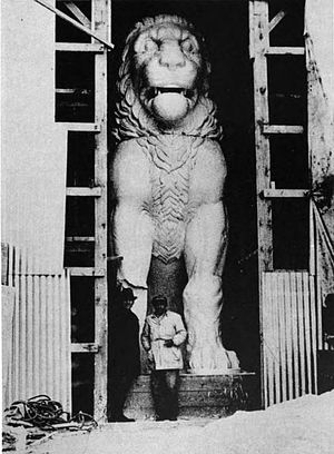 Oscar Broneer - Image: Plaster model of the lion of Amphipolis 1937