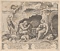 Plate 1- Apuleius changed into a donkey, listening to the story told by the old woman, from the Story of Cupid and Psyche as told by Apuleius MET DP862807.jpg