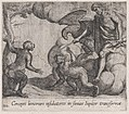 Plate 132- Jupiter Changing the Cercopians into Monkeys (Cercopes bonorum insidiatores in Simias Iupiter transformat), from Ovid's 'Metamorphoses' MET DP866537.jpg