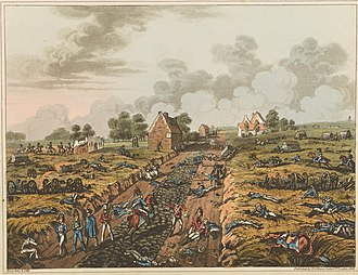 La Belle Alliance - Image: Plate M from 'An Historical Account of the Campaign in the Netherlands' by William Mudford (1817)