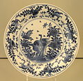 Plate with Kraak Design, c. 1690-1700, Arita, hard-paste porcelain with underglaze cobalt - Gardiner Museum, Toronto - DSC00693.JPG
