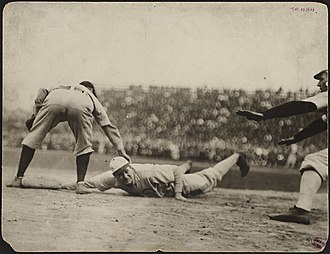 Frank Isbell - Isbell safe at first after pickoff attempt during the 1906 World Series