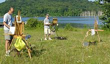 Plein Air Painters at Long Pond Ringwood, NJ.JPG