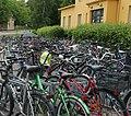 Polkupyöriä Riihimäellä, Bicycles in Riihimäki, Finland.jpg