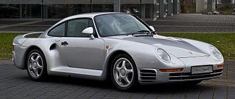 Rear-engine, four-wheel-drive layout - Image: Porsche 959 – Frontansicht (3), 21. März 2013, Düsseldorf