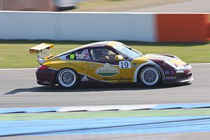 Sean Edwards (racing driver) - Edwards at the Porsche Mobil 1 Supercup on the Hockenheimring in 2010.