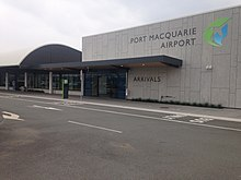 Entrance and signage at Port Macquarie Airport