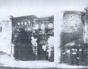 Porta Salaria - Porta Salaria just before its demolition in 1871.