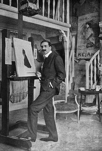 Leonetto Cappiello - Cappiello in his studio.