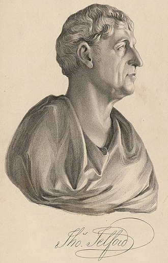 Thomas Telford - Portrait and signature of Thomas Telford